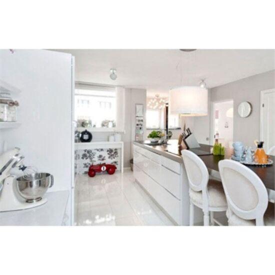 Fényes fehér PLAIN WHITE 60x60 cm fényes fehér gres padlólap