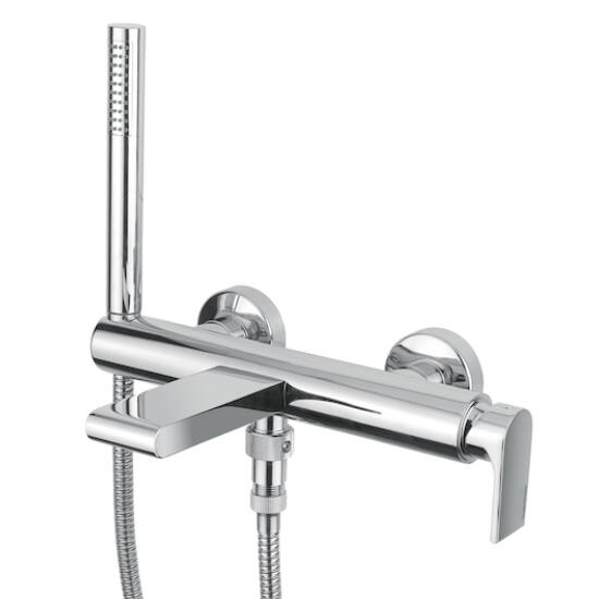 BUGNATESE SIMPLE Kádcsaptelep zuhanyszettel SZÁLCSISZOLT NIKKEL 6602NS